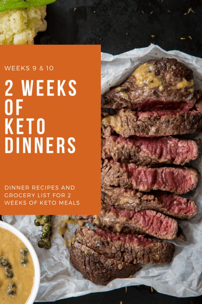 2 week recipes Keto dinner plan