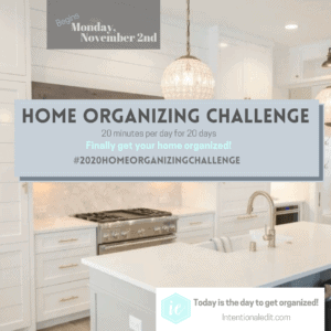 Home Organizing Challenge 2020