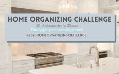 2020 Home Organizing Challenge is HERE!