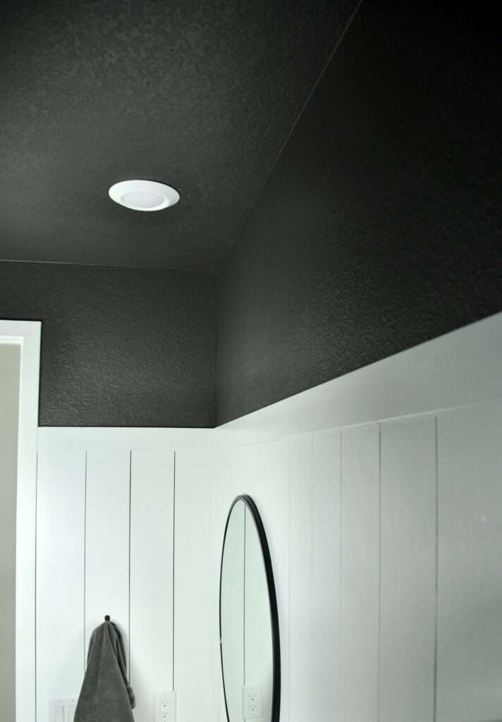 Bathroom Upper Walls Urbane Bronze Sherwin-Williams