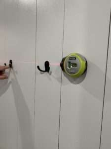 hooks and laser level