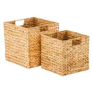 baskets containers organizing kitchen pantry