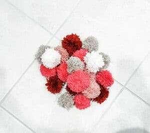 pom pom yarn balls