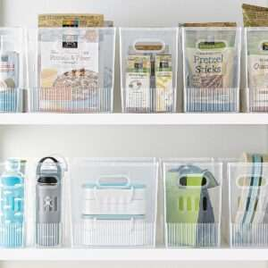 multi purpose bin container store, pantry kitchen organizing inexpensive