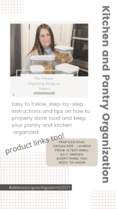 Kitchen and pantry organization and products to organize