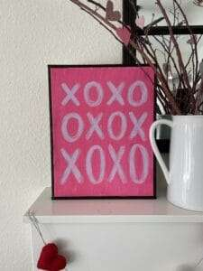 Easy Valentine Canvas Art