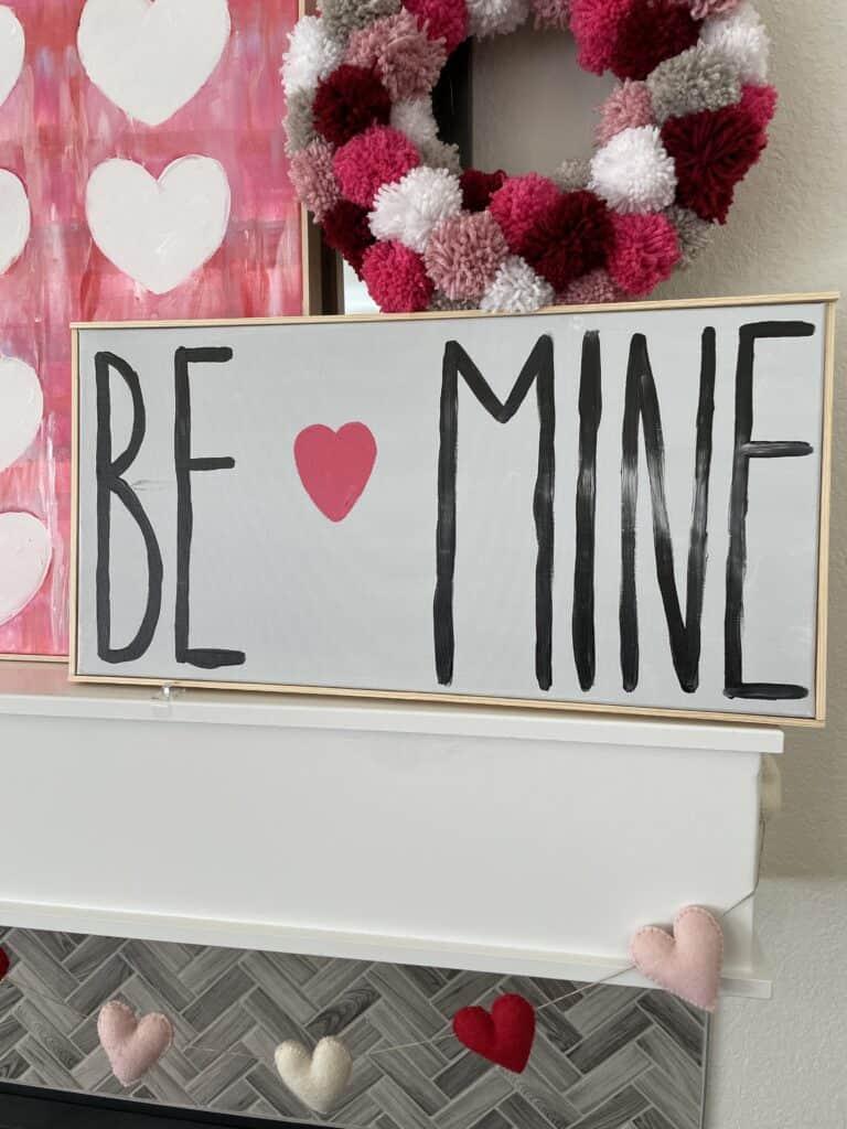 Be Mine Valentine Canvas Craft Project