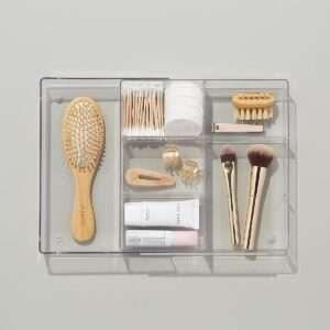 expandable bathroom drawer organizer - the home edit