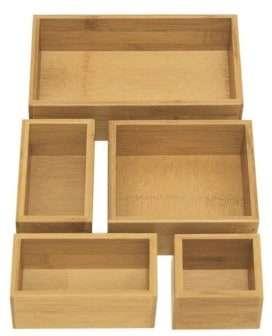 Bamboo Storage Drawer Organizer