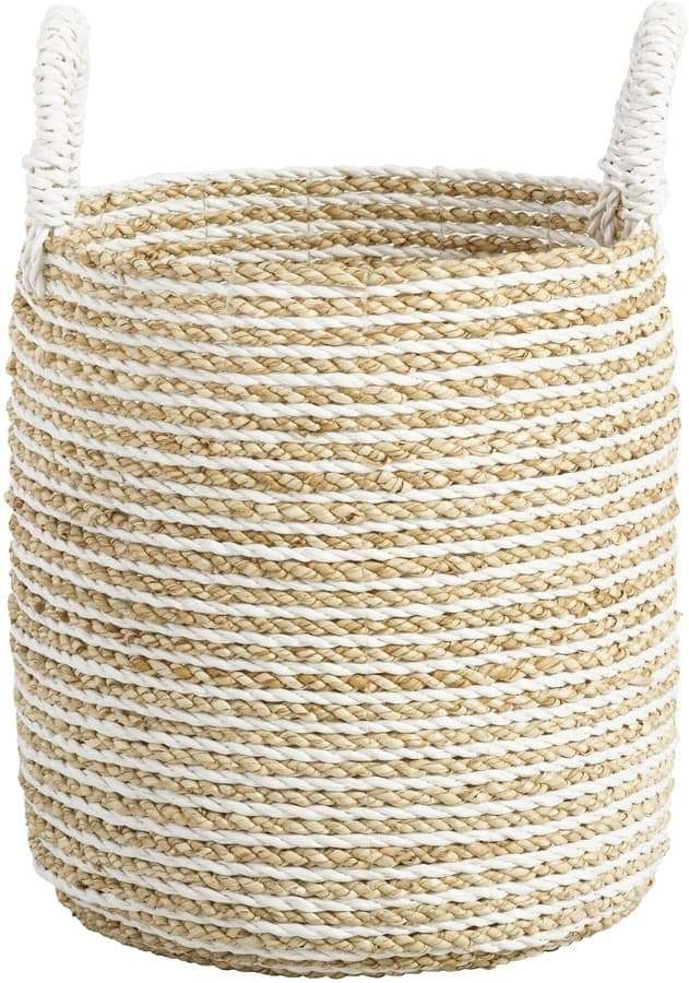 Stripe Basket with Handles