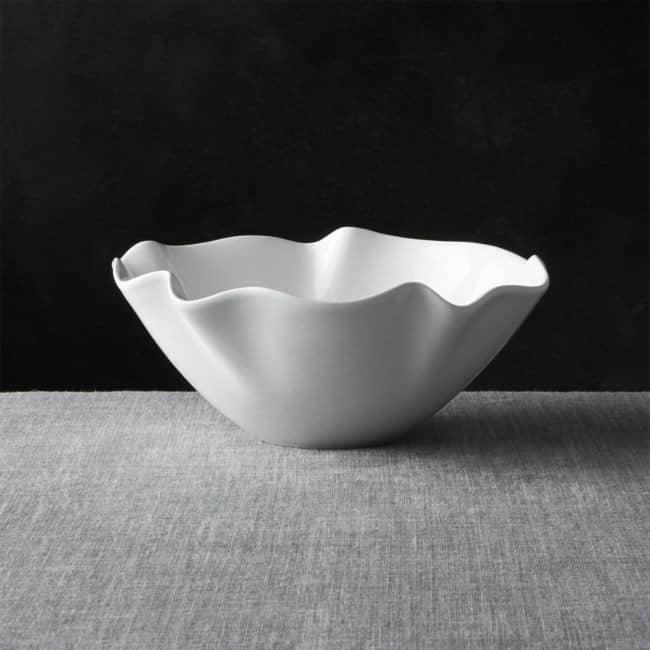 RUffle Bowl White