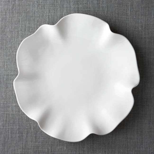 White Ruffle Platter