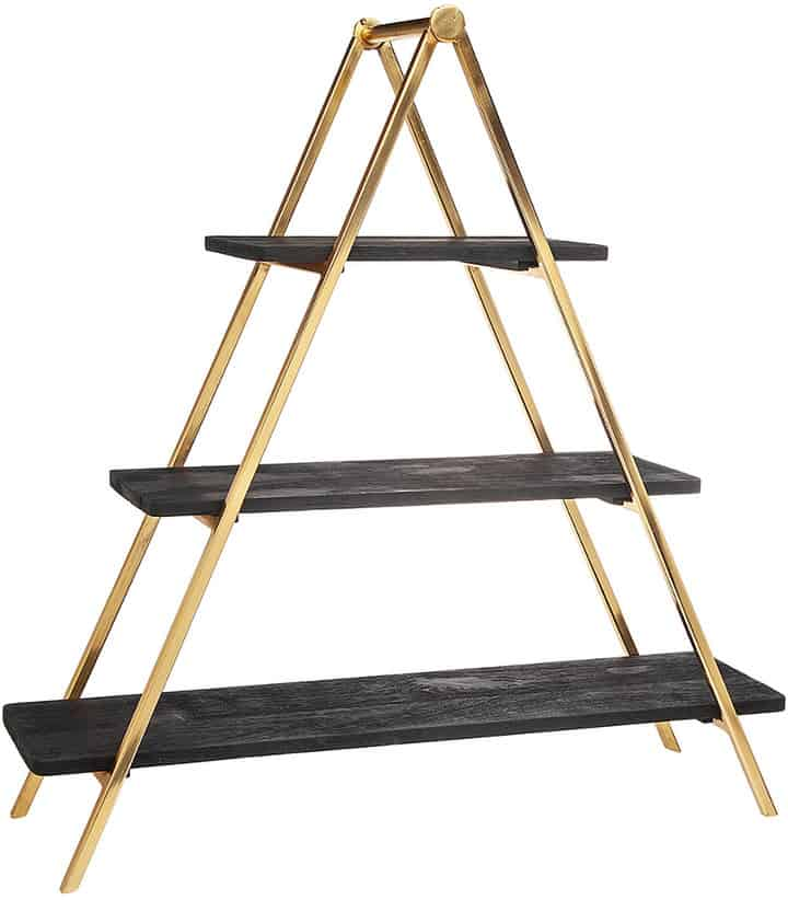3 Tier Black and Gold