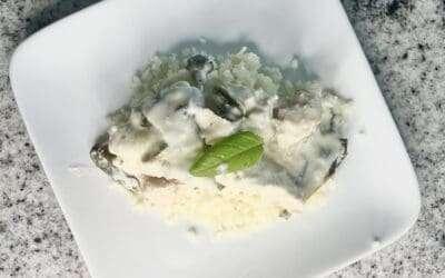 Chicken Cheese Casserole with Cauliflower Rice
