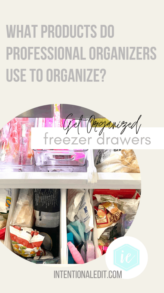 freezer organization and products to keep your freezer drawer perfectly organized