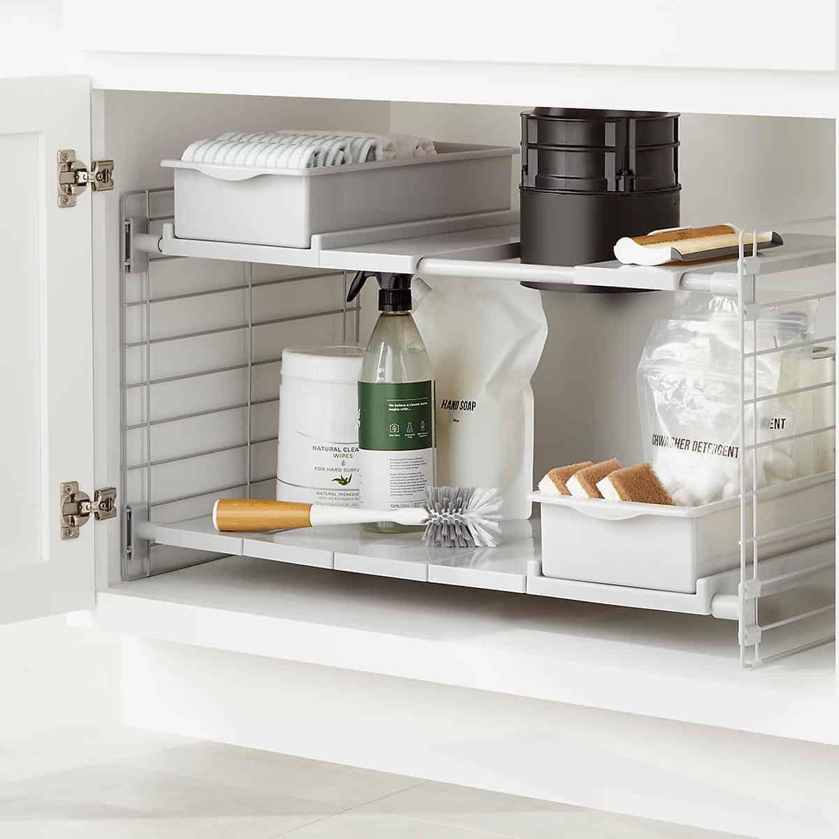 expandable under sink storage