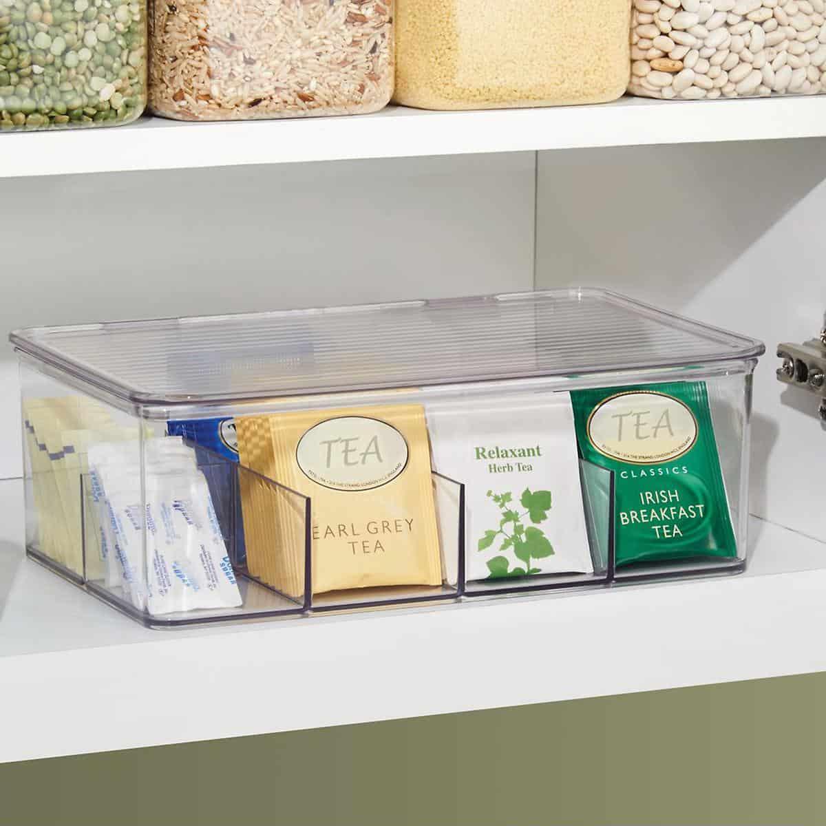 linus tea storage organizer